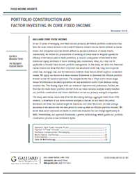 Fixed Income 2019 - Factor Investing
