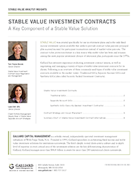 Stable Value 2016- Investment Contract