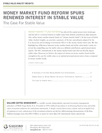 Stable Value 2015- Money Market Fund Reform