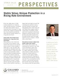 Stable Value 2015- Unique Protection in a Rising Rate Environment